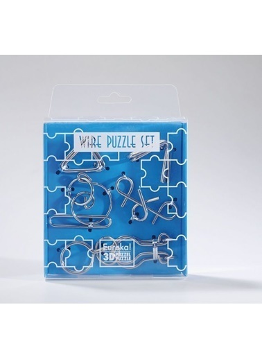 Educa Eureka Wire Puzzle Set-Blue Renkli